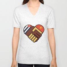 Hands Of Friendship Unisex V-Neck