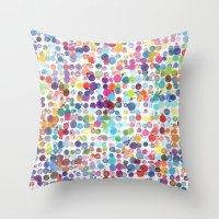 Colorful Paint Splats Throw Pillow