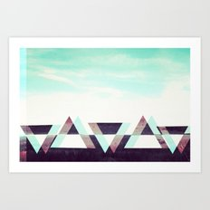 field of triangles. Art Print