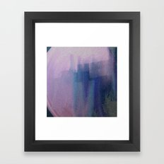 Big Blue City Framed Art Print