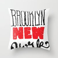 Brooklyn New York Throw Pillow