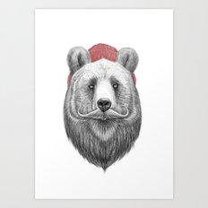 Bearded Bear Art Print
