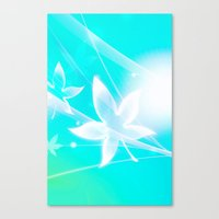 LADY LEAF IN THE HEAVEN Canvas Print