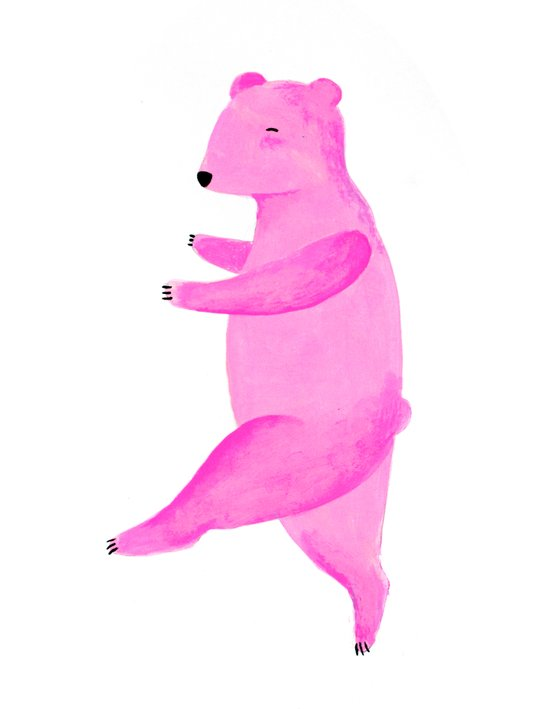 Dancing Bear №1 Art Print