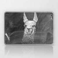 Black White Vintage Funny Llama Animal Art Drawing Laptop & iPad Skin