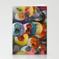 Alabaster Owls Stationery Cards