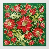 Shabby Flowers #4 Canvas Print