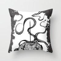 Octopus Munny Poster Throw Pillow