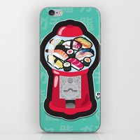 Gumball Sushi   ガチャ ガチャ 鮨 iPhone & iPod Skin