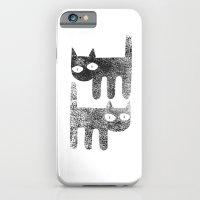 Three legged cats iPhone 6 Slim Case