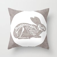 In Which A Rabbits Anato… Throw Pillow