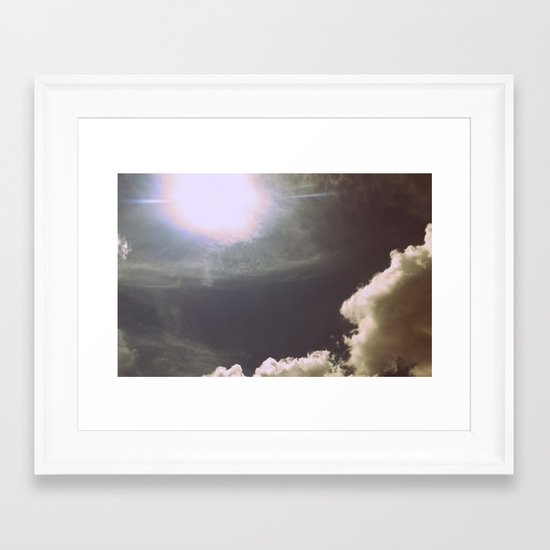 Blinded By the Light Framed Art Print