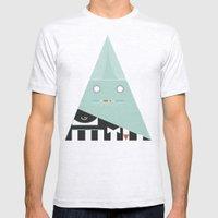 elegantes Dreieck Mens Fitted Tee Ash Grey SMALL