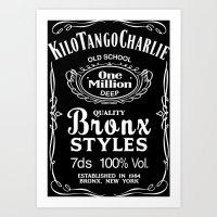 Kilo Tango Charlie - White Art Print