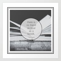 Books: No Friend As Loyal Art Print