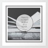 Books: No Friend As Loyal Art Print