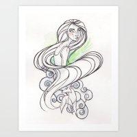 Aisling   Secret of Kells Art Print