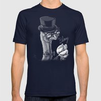 The Fancy Ostrich Mens Fitted Tee Navy SMALL
