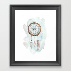 Brunette Dreamcatcher Framed Art Print