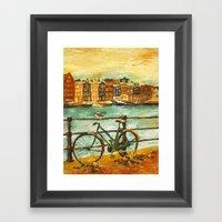 Going Dutch (yellow) Framed Art Print