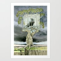 Wicked nature Art Print