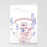 Mariachi In The Desert Stationery Cards
