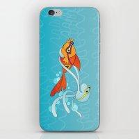 Goldfish & Octopus iPhone & iPod Skin