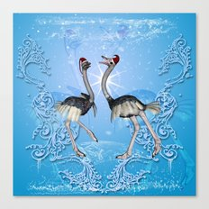 Dancing for christmas Canvas Print