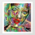 Ultraviolet Drops Art Print