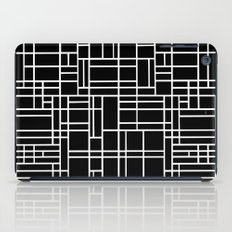 Map Outline White on Black iPad Case
