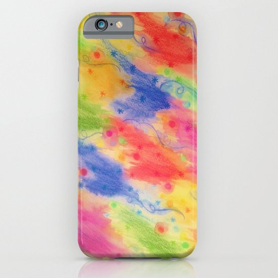 SEEING STARS 2 - Yellow Rainbow Pretty Starry Sky Abstract Watercolor Painting Feminine Pattern iPhone & iPod Case