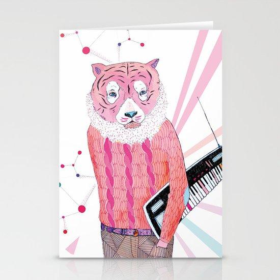 Pink Tiger Stationery Card