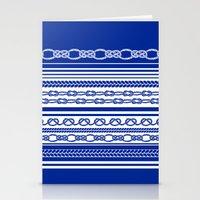 NAUTIC KNOTS: COBALT BLUE Stationery Cards
