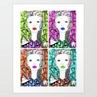 Rainbow Riot Girlz. Quadrupletz.  Art Print