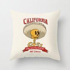 California Hot Sauce Throw Pillow