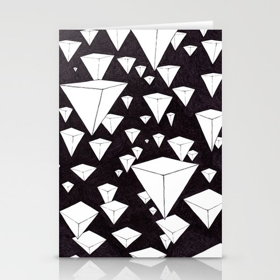 snowing pyramids II Stationery Card