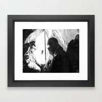 I May Be Some Time. Framed Art Print