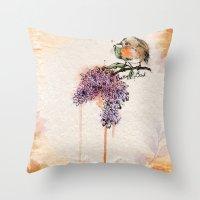 Pretty Bird Throw Pillow