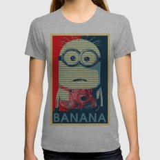 Minion banana Womens Fitted Tee Athletic Grey SMALL