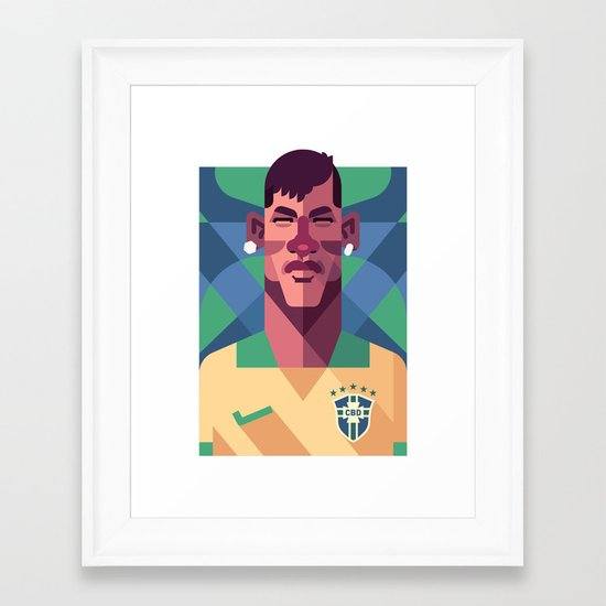 N10 | A Seleção Framed Art Print