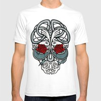 Celtic Skull Mens Fitted Tee White SMALL