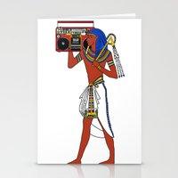 Rock Like an Egyptian Stationery Cards