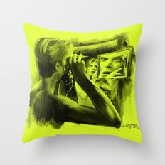 Homage to Bowie - The Man Who Fell To Earth Throw Pillow