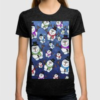 Frosties The Snowmen. Womens Fitted Tee Tri-Black SMALL