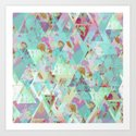 Candy Geometric  Art Print