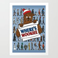 Where's Wookiee Art Print