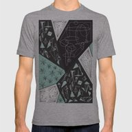 DARKSTAR GEOMETRIC Mens Fitted Tee Athletic Grey SMALL