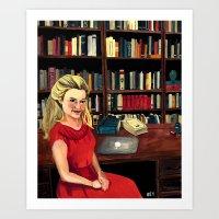 Miss Mannell Art Print