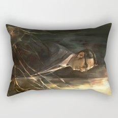 The Abyss Gazes Back Rectangular Pillow