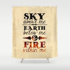 Sky Earth Fire Shower Curtain